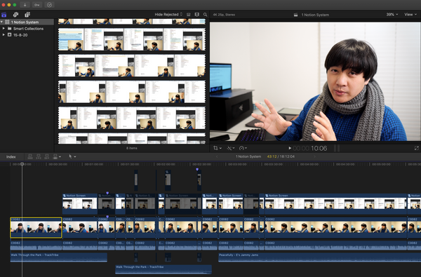 My Current YouTube Video Creation Workflow (Recording Films -> Final Cut Pro) - Work in Progress